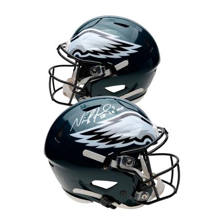 "Nick Foles // Philadelphia Eagles Riddell Speed Flex Authentic Helmet + ""SB LII MVP"" Inscription"