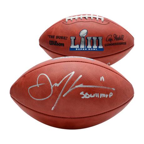 Julian Edelman // New England Patriots SB LIII Champions Duke Football with Inscription
