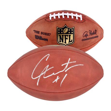Cam Newton // Carolina Panthers Duke Pro Football