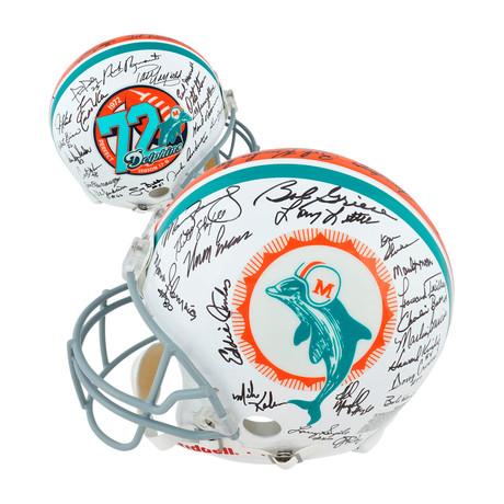 Miami Dolphins 40th Anniversary 1972 Team Riddell Pro-Line Helmet