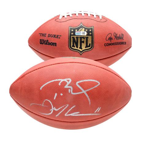 Tom Brady + Julian Edelman // New England Patriots Dual Signed Wilson Duke Pro Football