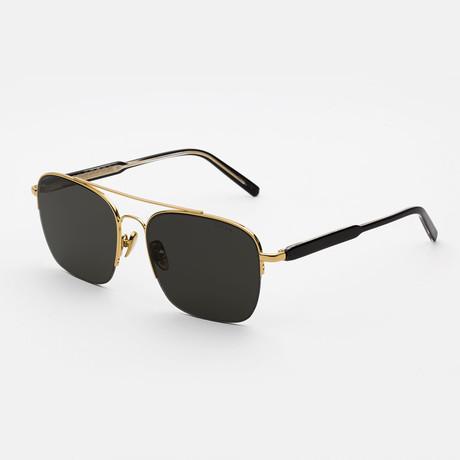 Men's Adamo Sunglasses // Black + Gold