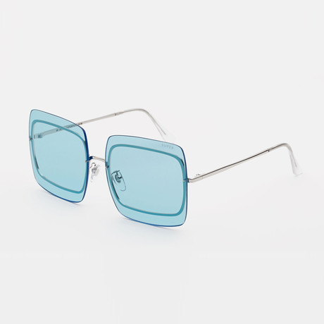 Gia Sunglasses // Low Bridge Fit // Baby Blue Bliss