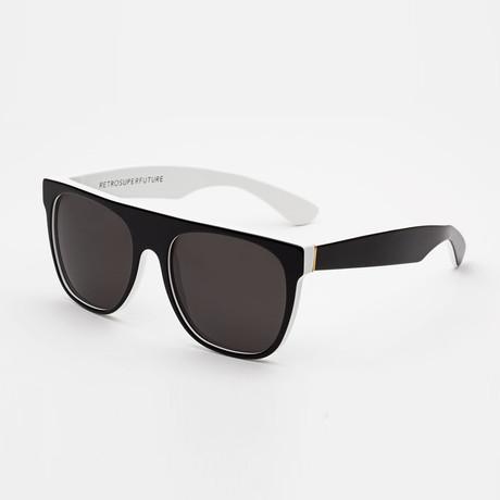 Flat Top Ny Li Sunglasses // Black + White