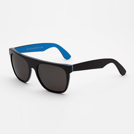Flat Top RGB Sunglasses (Black + Blue)