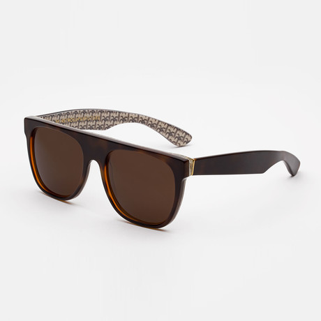 Flat Top Miracolo Sunglasses // Black + Brown