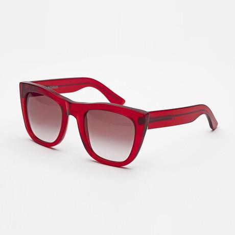 Gals Intermix Trans Sunglasses // Red