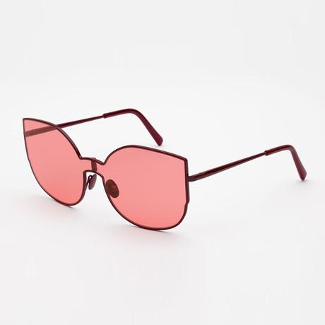 Women's Lenz Lucia Sunglasses // Red