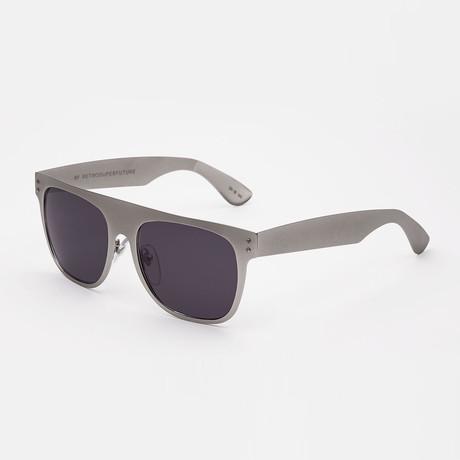 Flat Top Siber Sunglasses // Silver
