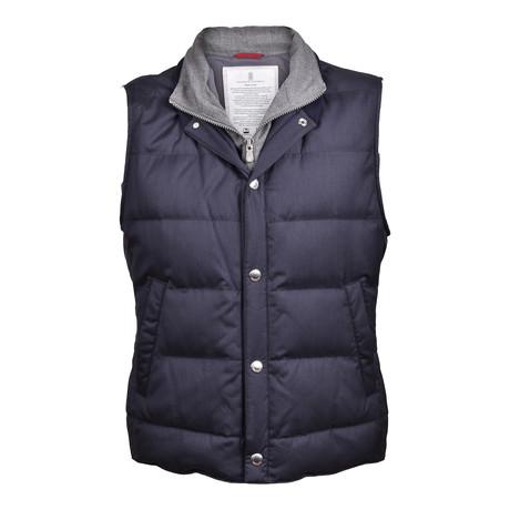 Goose-Down Puffer Vest // Blue (XS)