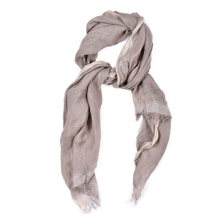 Brunello Cucinelli // Linen Scarf // Light Brown