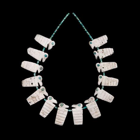 Pre-Columbian Shell & Malachite Necklace // Peru Ca. 700-1000 CE