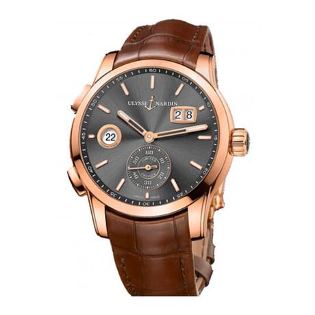 Ulysse Nardin Classic Dual Time Automatic // 3346-126LE-5/BQ // New