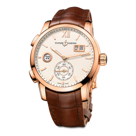 Ulysse Nardin Classic Dual Time Automatic // 3346-126-5/90 // New