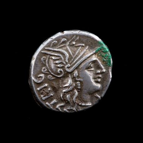 Rare Roman Silver Denarius // Curiatius F. Trigeminus // Roman Republic Ca. 135 BCE