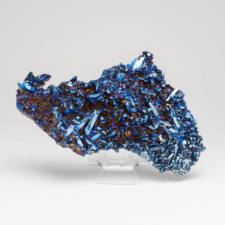 Genuine Cobalt Aura Quartz Cluster // III