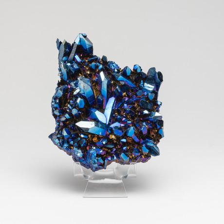 Genuine Cobalt Aura Quartz Cluster // I