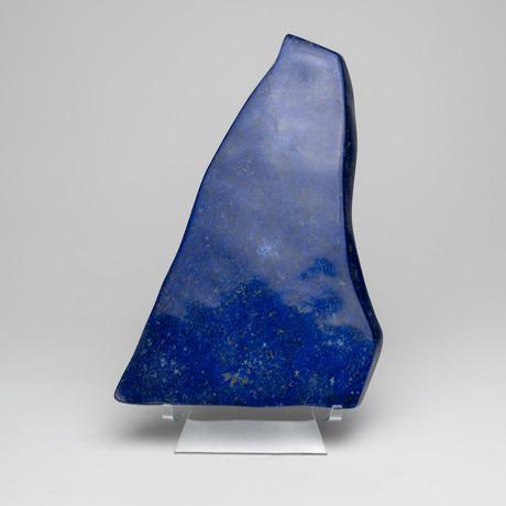 Polished Natural Lapis Lazuli Freeform // Acrylic Display // I