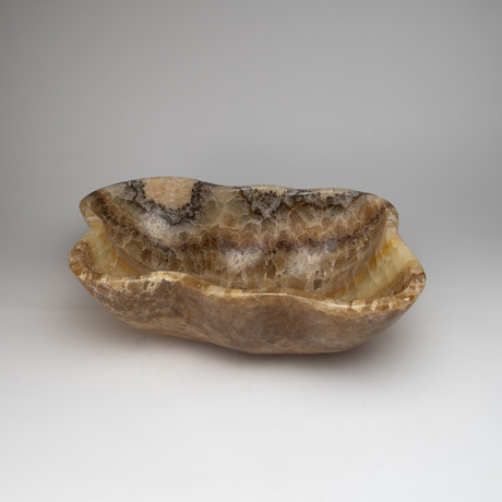 Polished Natural Mexican Banded Onyx Bowl
