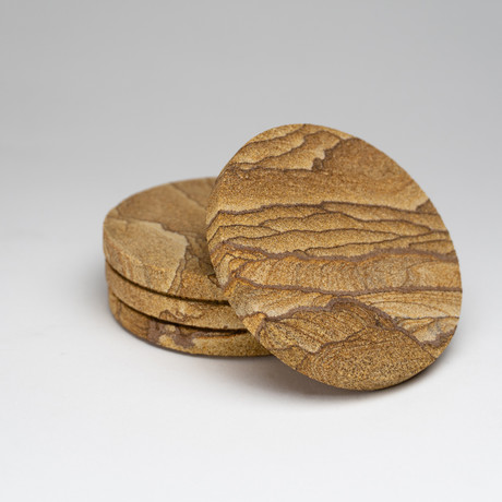 Genuine Sandstone Coasters // 4 Pieces