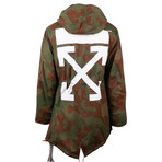 Off White // Fishtail Camo Hooded Parka // Green (L)