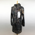 11 By Boris Bidjan Saberi // Camouflage Hooded Raincoat // Green (XS)