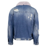 Alchemist // Rocky 2 Fur + Vintage Denim Jacket // Lilac (L)