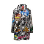 Amiri // Checkered Sticker Design Parka Coat // Black + White (2XL)