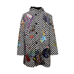 Amiri // Checkered Sticker Design Parka Coat // Black + White (M)