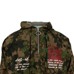 Off White // Camouflage Monna Lisa Print Anorak Jacket // Green (L)