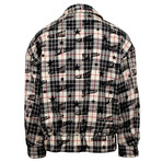 Palm Angels // Plaid Reversible Harrington Jacket // Black + White + Tan (M)