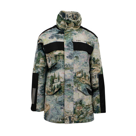 Off White // Lake Print Parka Coat // Multicolor (XS)