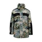 Off White // Lake Print Parka Coat // Multicolor (L)