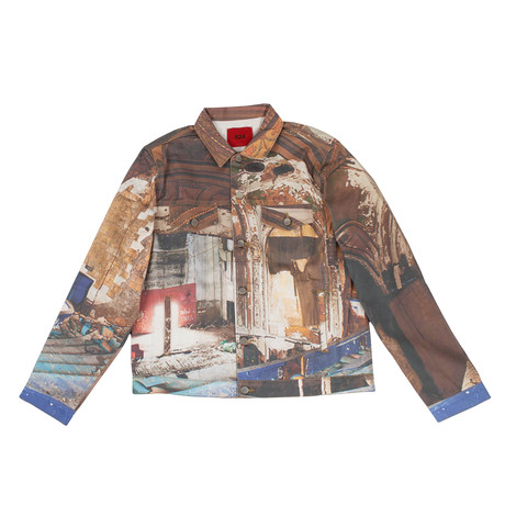 424 // Theater Trucker All Over Print Jacket // Multicolor (XS)