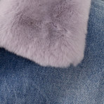 Alchemist // Rocky 2 Fur + Vintage Denim Jacket // Lilac (XS)