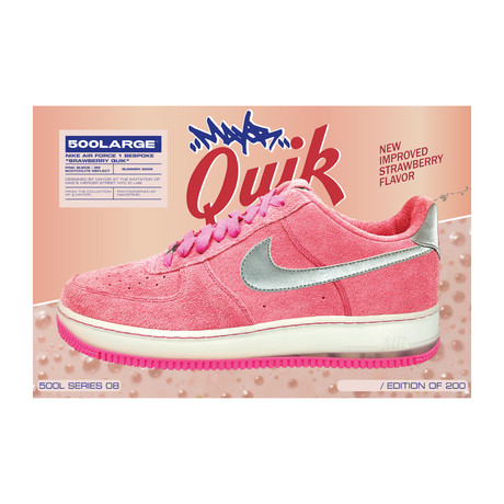 "Air Force 1 Bespoke ""Strawberry Quik"""