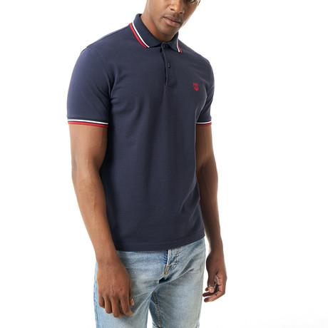 Wyatt Short-Sleeve Polo // Navy (XS)