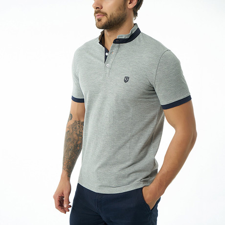Clark Short-Sleeve Polo // Gray Melange (XS)