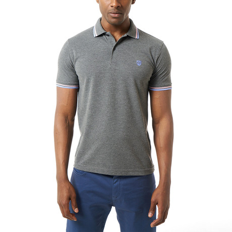 Caleb Short-Sleeve Polo // Anthracite (XS)