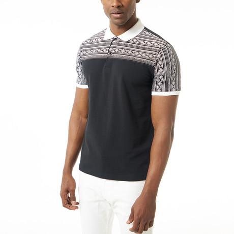 Elian Short-Sleeve Polo // Black (XS)