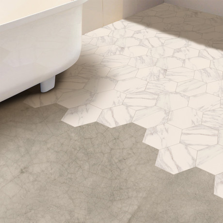 White Marble Hexagon