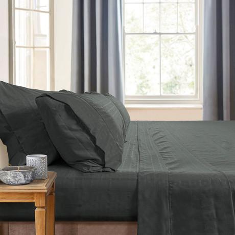 Gabriella Milano Bedsheets // Gray-Squares (Queen)