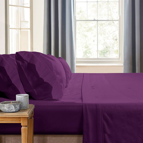 Gabriella Milano Bedsheets // Purple-Waves (Twin)