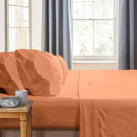 Gabriella Milano Bedsheets // Orange-Waves (Twin)