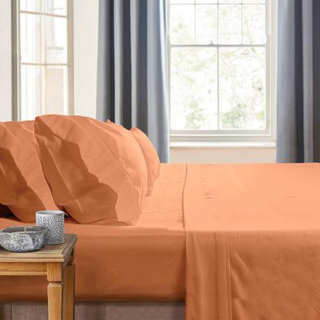 Gabriella Milano Bedsheets // Orange Waves (Twin)