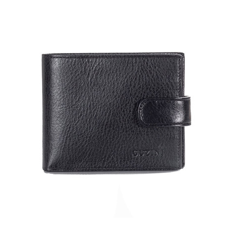 Wallet With Pocket For Coins I // Black