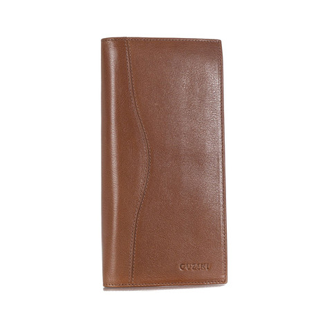 10-Card Wallet With Pocket For Checkbook // Tobacco