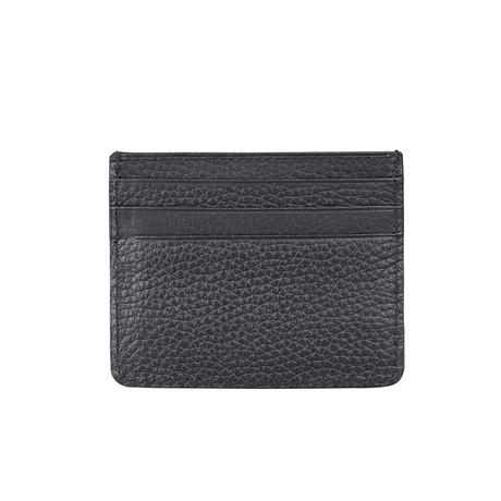 6-Card Holder With Pocket For Paper Money // Black