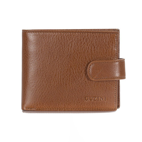 Wallet With Pocket For Coins // Tobacco