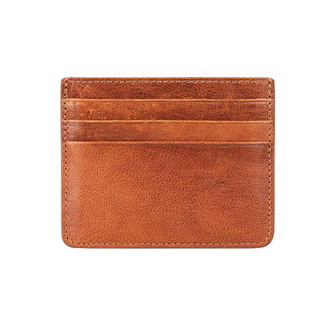 6-Card Holder With Pocket For Paper Money // Tobacco